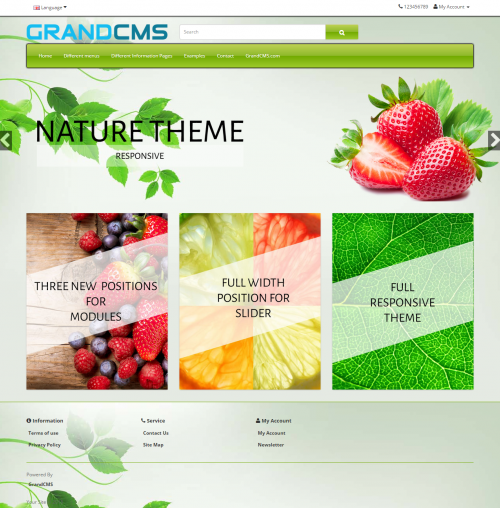 Nature GrandCMS theme