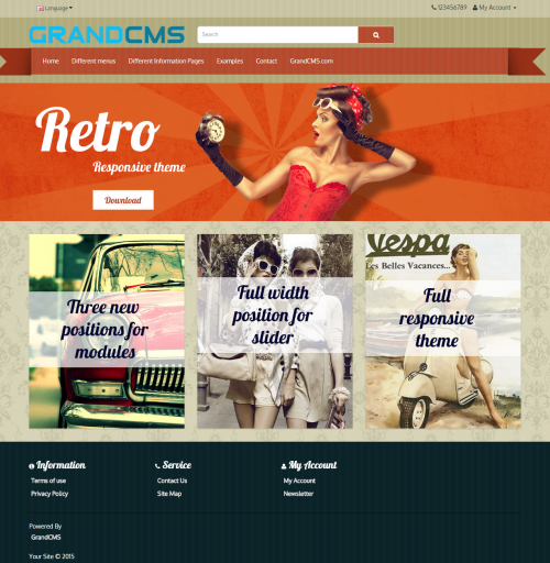 Retro GrandCMS theme