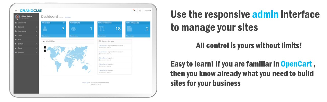 Use the responsive admin interface to manage your site!